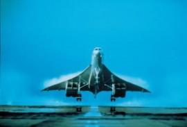 Concorde Take Off Preswick Scotland - 16x12