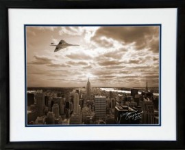 Concorde over Empire State Building Manhattan