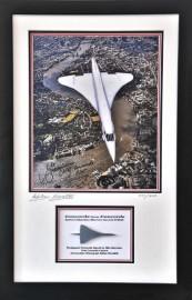 Concorde Framed Hiduminium & Signed Photo from  G-BOAG