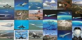 21 Classic Post Cards Plus 1 A5 Signed Large Post Card